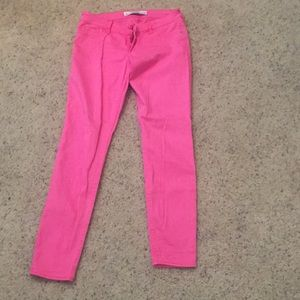 Abercrombie and Fitch Pink skinny jeans
